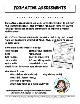 Formative Assessment Graphic Organizer for Reading