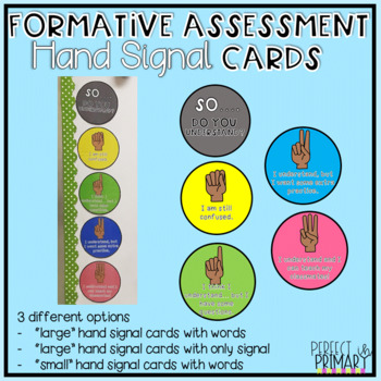 Formative Assessment Hand Signal Cards