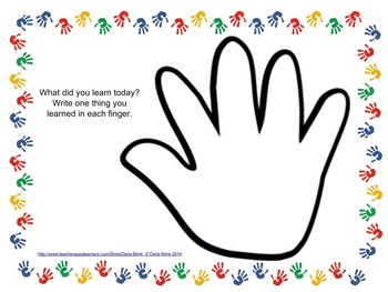 Formative Assessment: Handprint