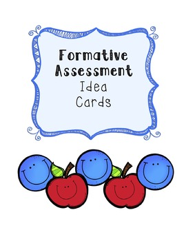 Formative Assessment Idea Cards