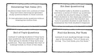 Formative Assessment Idea Cards for Educators