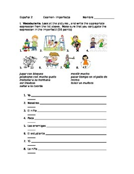 Formative Assessment: Imperfecto/ Realidades 2 4a