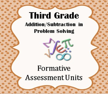 Formative Assessment Lesson: Addition & Subtraction in Problem Solving