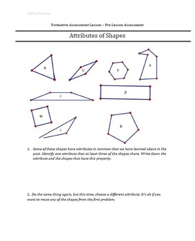 Formative Assessment Lesson: Attributes of Shapes