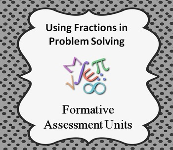Formative Assessment Lesson: Fractions in Problem Solving Contexts