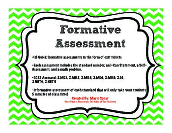 Formative Assessment Math Common Core