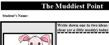 Formative Assessment - Muddiest Point