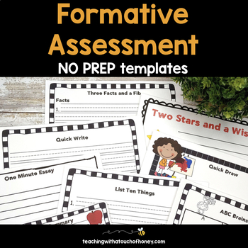 Formative Assessment Templates For Grade 1, 2, and 3