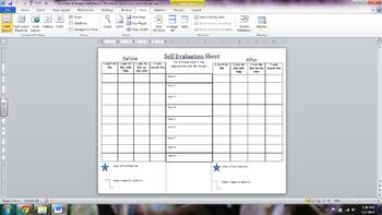 Formative Assessment Self Evaluation Grid