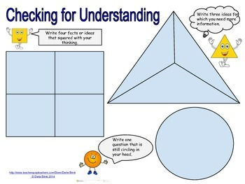 Formative Assessment: Square, Triangle, Circle Checking for Understanding