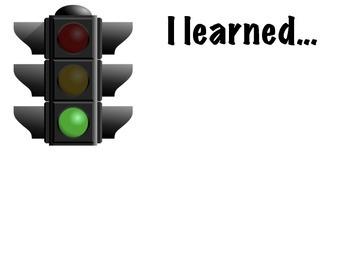 Formative Assessment Stoplight Organizer