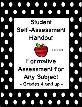 Formative Assessment; Student Self-Assessment; Exit Slip
