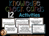 Formative Assessment Task Cards