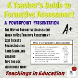 Formative Assessment: Teacher's Guide PowerPoint