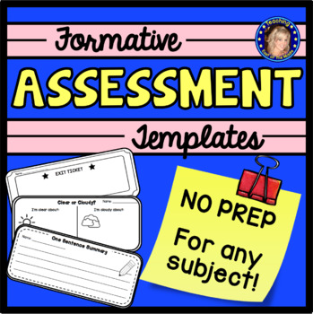 Formative Assessment Templates