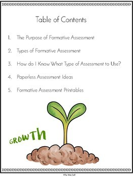 Formative Assessment Templates & Ideas
