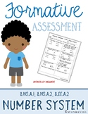 Formative Assessment {The Number System}