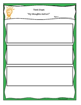 Formative Assessment Graphic Think Sheet