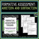 Formative Assessment Toolbox:  Addition and Subtraction Grades 2-4
