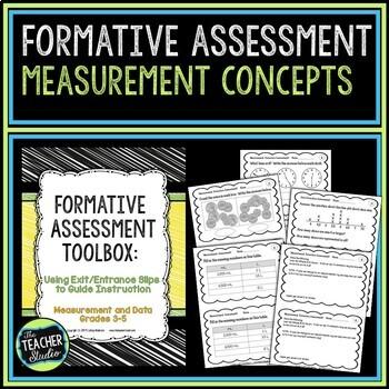 Formative Assessment Toolbox:  Measurement Concepts Grades 3-5