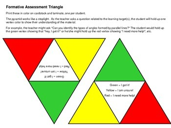 Formative Assessment Triangle