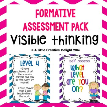 Formative Assessment Visible Learning Pack By A Little Creative Delight