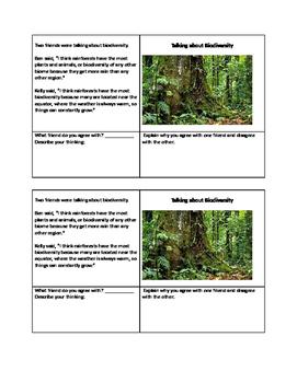 Formative Assessment on Biodiversity