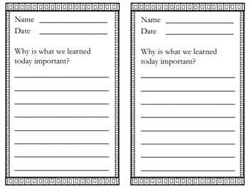 Formative Assessment printable slips