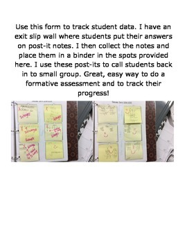 Formative Assessment/Data Tracking with Post-It Notes