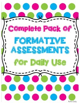 Complete Pack of Formative Assessments & Exit Tickets