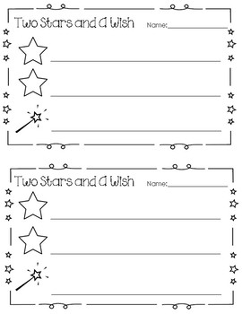 Formative Assessments / Exit Tickets - Glow & Grow, 2 Stars & A Wish, and 2 More