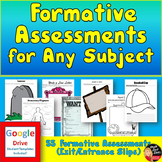 Formative Assessments for Any Subject (Google Drive & Print)