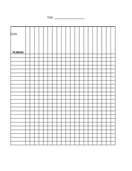 Formative Daily Track Sheet