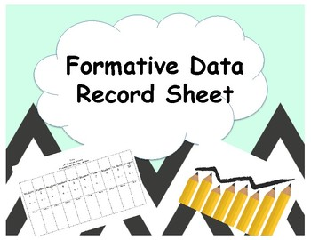 Formative Data Record Sheet