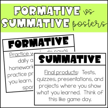Formative & Summative Posters