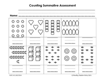 Counting Objects 0-20 Summative Assessment