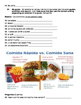 Formative assessment Realidades 1 3a