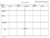 Formato de Planificación Nivel elemental en Blanco