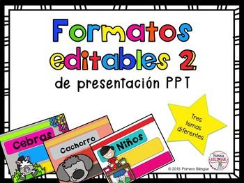 Formato de presentación PPT editable Cebras/Cachorros/Niños