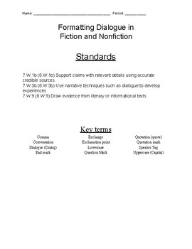 Formatting Dialogue in Fiction and Nonfiction