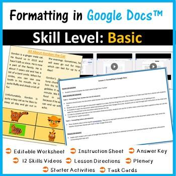 Formatting Lesson for Google Docs™
