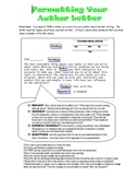 Formatting an Author Letter