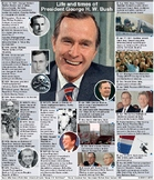 Former President George H W Bush senior - Life and times