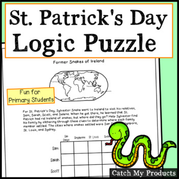 St. Patrick's Day Logic Puzzle - Former Snakes of Ireland