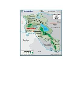 Former Soviet States Map Scavenger Hunt