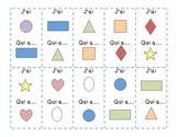 Formes et couleurs - J'ai ___, qui a ___?