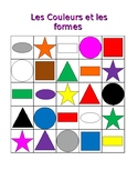 Couleurs et Formes (Colors and Shapes in French) Bingo