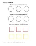 Formes géométriques: carrés, cercles, rectangles et couleurs