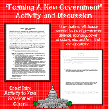 """""""Create A New Government"""" Activity and Discussion"""