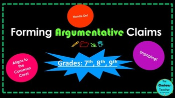 Forming Argumentative Claims